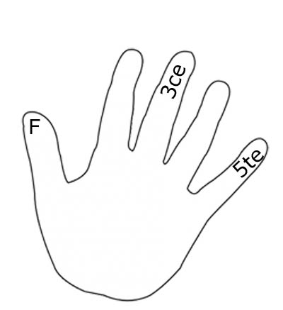 Les intervalles sur les doigts de la main