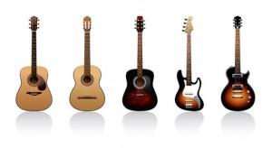 Différentes guitares